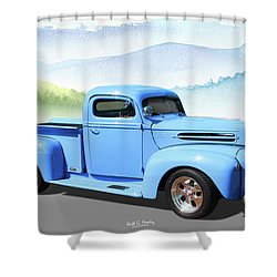Chop Top Pickup Shower Curtain