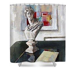 Chopin Shower Curtain