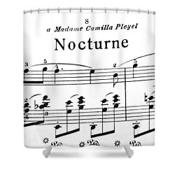 Chopin Nocturne Part 2 Shower Curtain