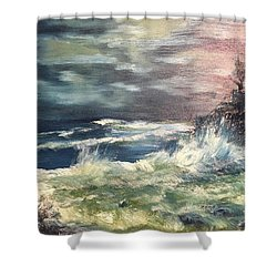 Choppy Seas 1 Shower Curtain