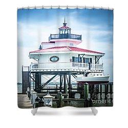 Choptank River Lighthouse Shower Curtain