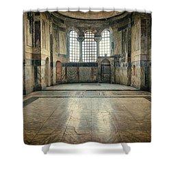 Chora Nave Shower Curtain by Joan Carroll