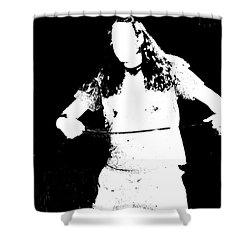 Chord Shower Curtain by Meghann Brunney