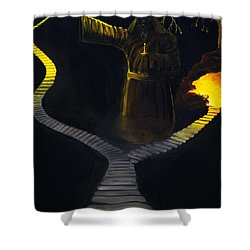Chosen Path Shower Curtain by Brian Wallace