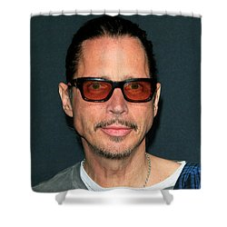 Chris Cornell Shower Curtain by Nina Prommer