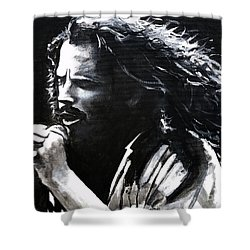 Chris Cornell Shower Curtain by Tom Carlton