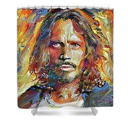 Chris Cornell Tribute 2017 Portrait Shower Curtain