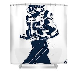 Chris Hogan New England Patriots Pixel Art Shower Curtain by Joe Hamilton