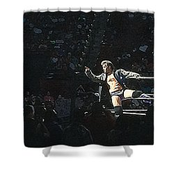 Chris Jericho Y2j Shower Curtain by Paul  Wilford