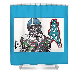 Chris Johnson  Shower Curtain by Jeremiah Colley