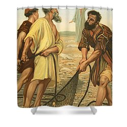 Christ Calling The Disciples Shower Curtain by Philip Richard Morris