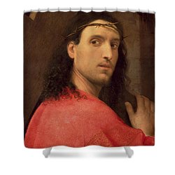 Christ Carrying The Cross Shower Curtain by Italian School