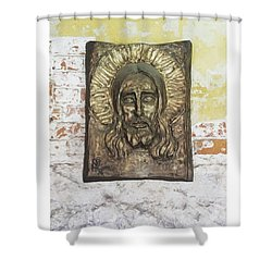 #christ #christians #religion #face Shower Curtain