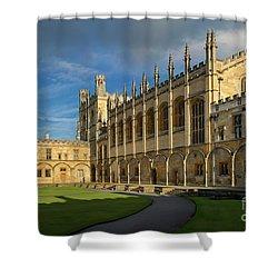Shower Curtain featuring the photograph Christ Church College II by Brian Jannsen