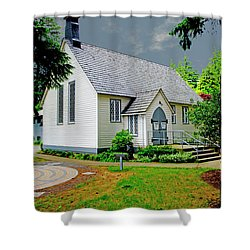 Shower Curtain featuring the photograph Christ Church by Rod Wiens