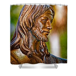 Christ In Bronze Shower Curtain