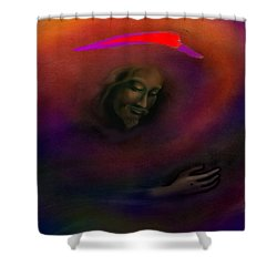 Shower Curtain featuring the painting Christ by Kevin Middleton