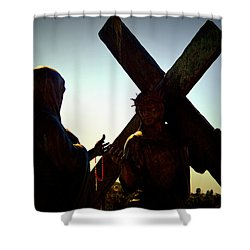 Christ Meets His Mother Shower Curtain