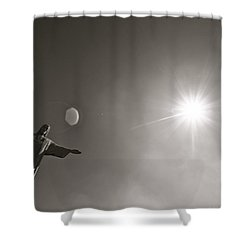 Christ The Redeemer Shower Curtain by Mark Nowoslawski
