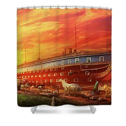Shower Curtain featuring the photograph Christian - Noah's Ark - The Beginning by Mike Savad