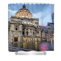 Christian Science Center In Boston Shower Curtain