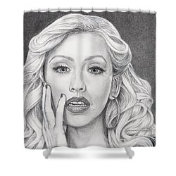 Christina Aguilera Shower Curtain