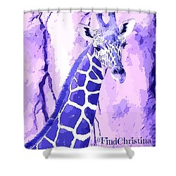 Christina's Giraffe Shower Curtain by Robert ONeil