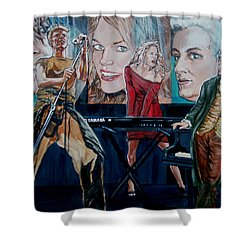 Christine Anderson Concert Fantasy Shower Curtain by Bryan Bustard
