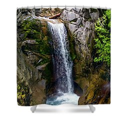 Christine Falls Mt Rainier Shower Curtain