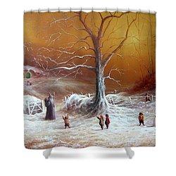 A Shire Christmas  Shower Curtain