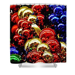 Christmas Abstract 14 Shower Curtain by Sarah Loft