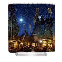 Christmas At Hogsmeade Blank Shower Curtain
