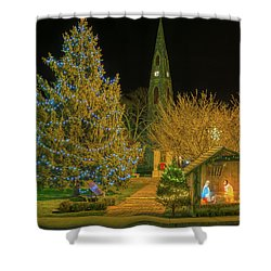 Christmas At The Historic District Of Goshen New York Shower Curtain