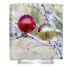 Christmas At The Park Shower Curtain