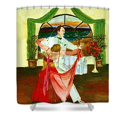 Christmas Ball Shower Curtain
