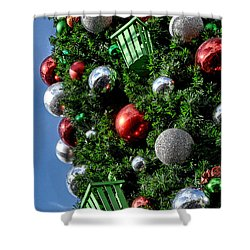 Christmas Balls Shower Curtain
