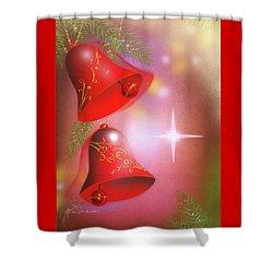 Christmas Bells Shower Curtain