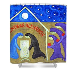 Christmas Blessings 2 Shower Curtain by Patrick J Murphy