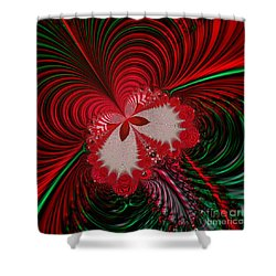 Christmas Butterfly Fractal 63 Shower Curtain by Rose Santuci-Sofranko