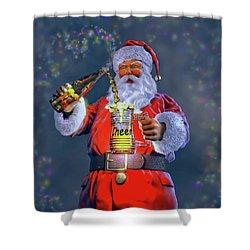 Christmas Cheer Iv Shower Curtain by Dave Luebbert