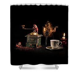 Shower Curtain featuring the photograph Christmas Coffee-time by Torbjorn Swenelius