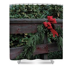 Christmas Colors Shower Curtain by John Rossman