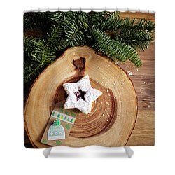 Shower Curtain featuring the photograph Christmas Cookies by Rebecca Cozart