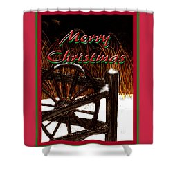 Shower Curtain featuring the digital art Christmas Country by Michelle Audas
