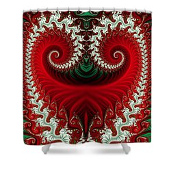 Christmas Swirls Shower Curtain