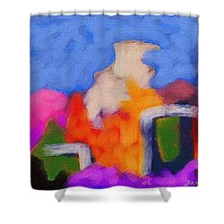 Christmas Day Shower Curtain by Judith Chantler
