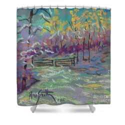 Christmas Day Sketch Shower Curtain