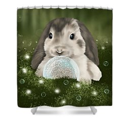 Shower Curtain featuring the painting Christmas Decoration  by Veronica Minozzi