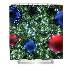 Christmas Display 2 Shower Curtain