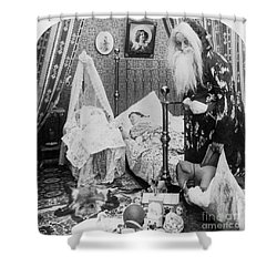 Christmas Eve, C1897 Shower Curtain by Granger
